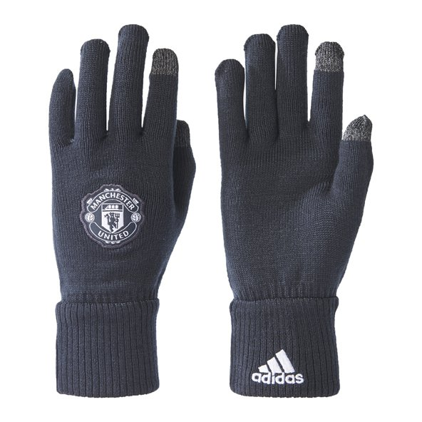 adidas Man Utd 2017/18 Winter Gloves, Grey