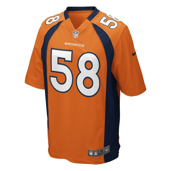 Nike Broncos Miller Home Jersey Orange
