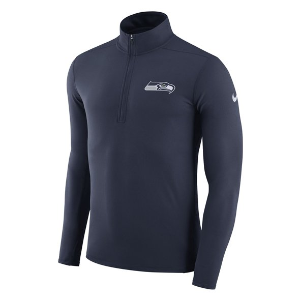 Nike Seahawks Dry Element Top Navy