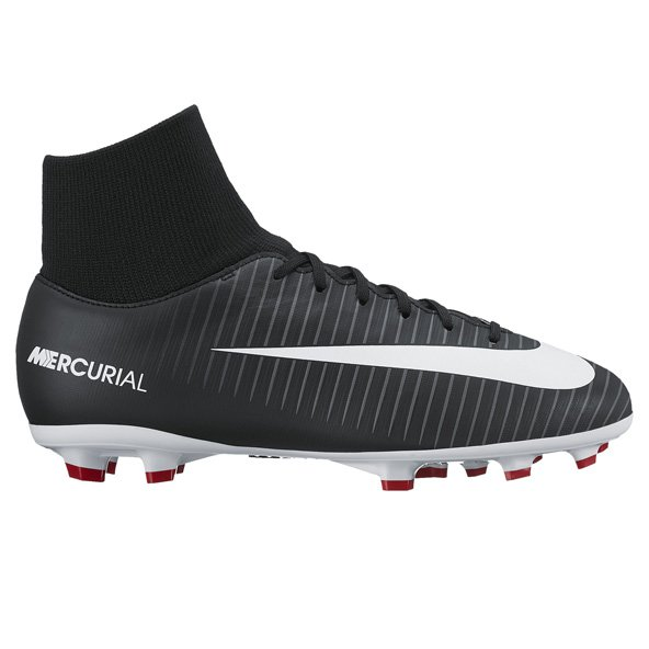 Nike Mercurial Victory VI DF Kids' FG Boot, Black