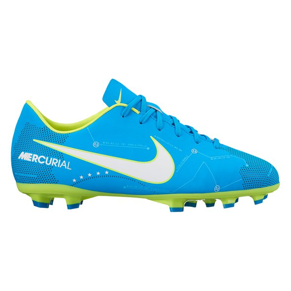 Nike Mercurial Victory VI NJR Kids' FG Football Boot, Blue