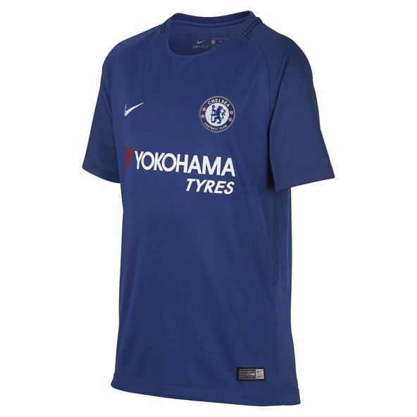 Nike Chelsea 2017/18 Kids' Home Jersey, Blue