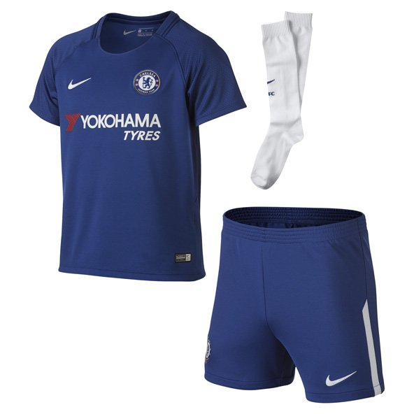 Nike Chelsea 2017/18 Kids' Home Kit, Blue