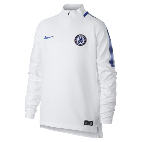 Nike Chelsea 2017/18 Kids' Squad Drill Top, White
