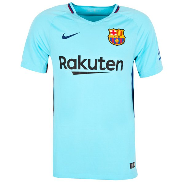Nike FC Barcelona 2017/18 Kids' Away Jersey, Blue