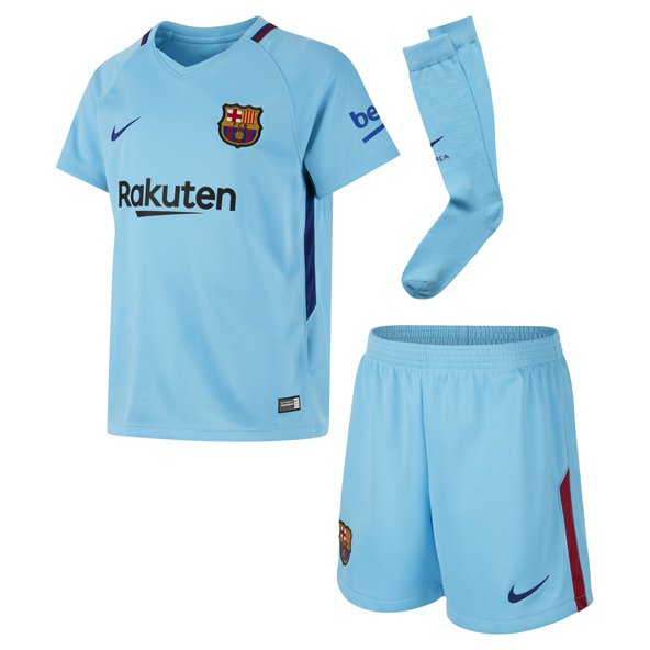 Nike FC Barcelona 2017/18 Kids' Away Kit, Blue