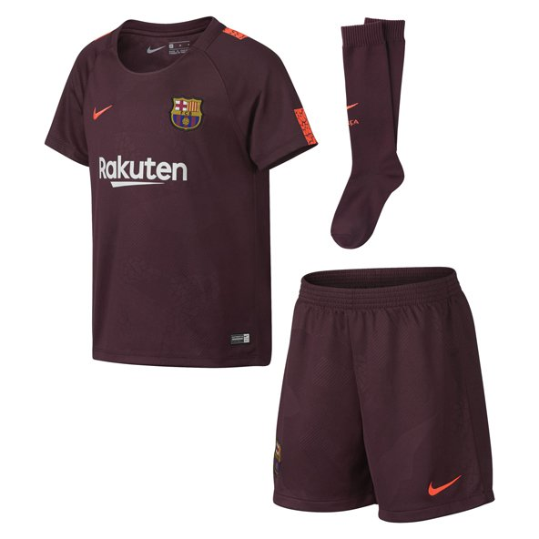 Nike FC Barcelona 2017/18 Kids' Third Kit, Maroon