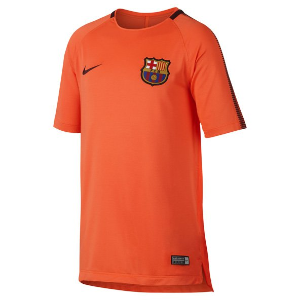 Nike FC Barcelona 2017 Kids' Squad T-Shirt, Red