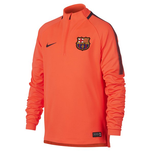 Nike FC Barcelona 2017 Kids' Squad Drill Top, Orange