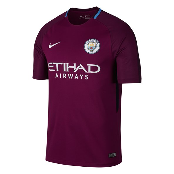 Nike Man City Away 17 Kids Jersey Berry