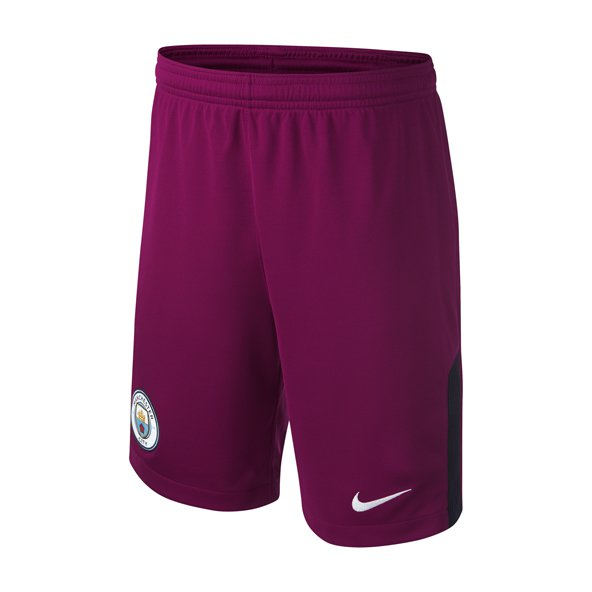Nike Man City Away 17 Kids Shorts Berry