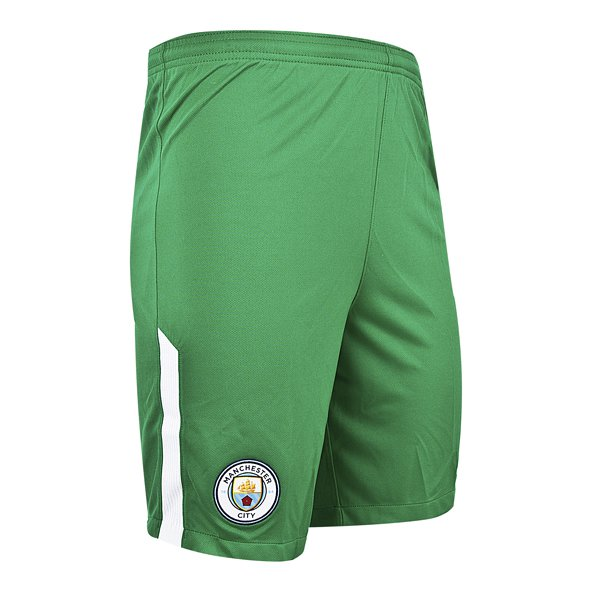 Nike Man City 2017/18 Kids' Goalkeeper Home Short, Green