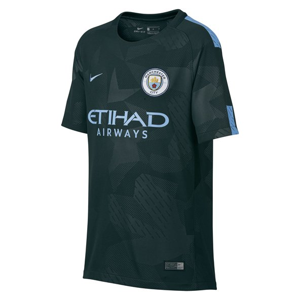 Nike Man City 2017/18 Kids' 3rd Jersey, Green