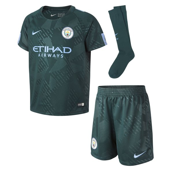 Nike Man City 2017/18 3rd Mini Kit, Green