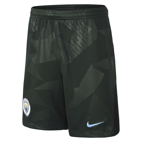 Nike Man City 2017/18 Kids' 3rd Short, Green