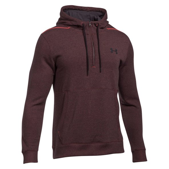 Under Armour® Threadborne Men's ½ Zip Hoody, Red