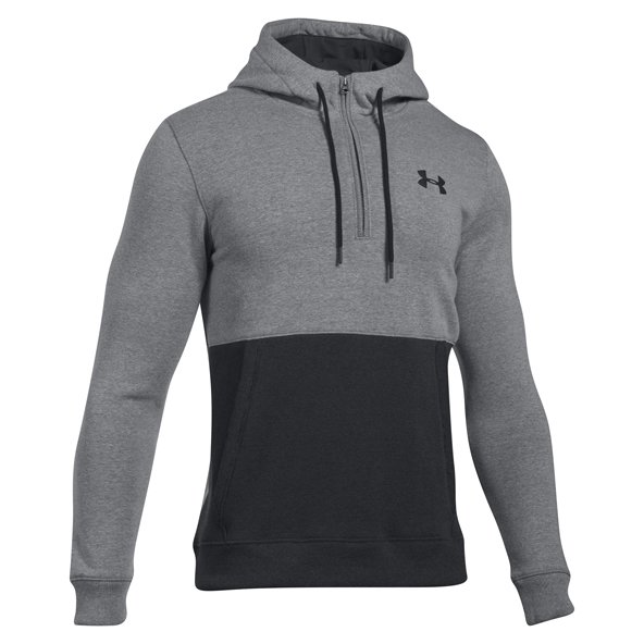 Under Armour® Threadborne Men's ½ Zip Hoody, Grey