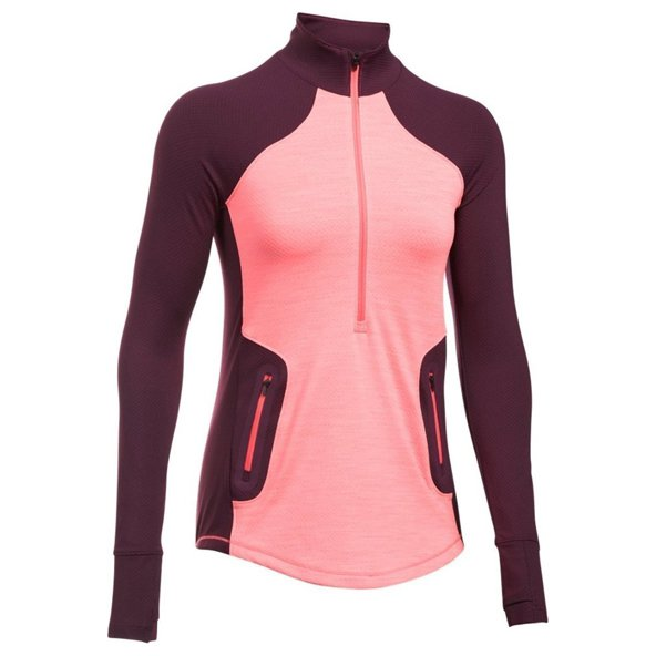 Under Armour® ColdGear® Reactor Women's Top, Red