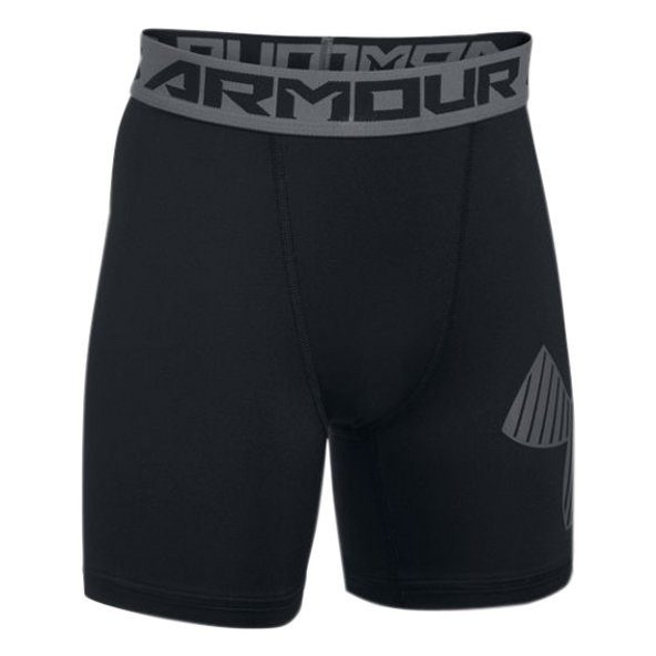 Under Armour® HeatGear® Mid Boys' Short , Black
