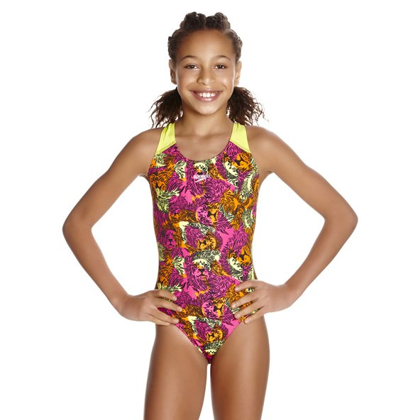 Speedo Allover Girls Splashback Green/Bl