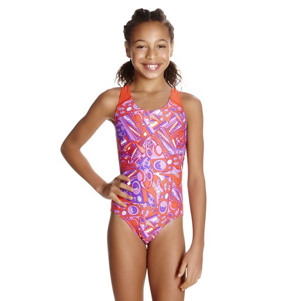 Speedo Lunar Allo Girls Splashback Pnk/P
