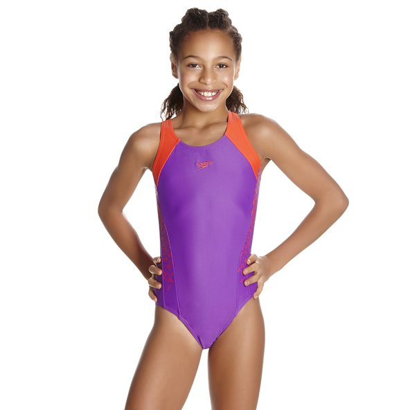 Speedo Boom Splice Girls Muscleback Purp