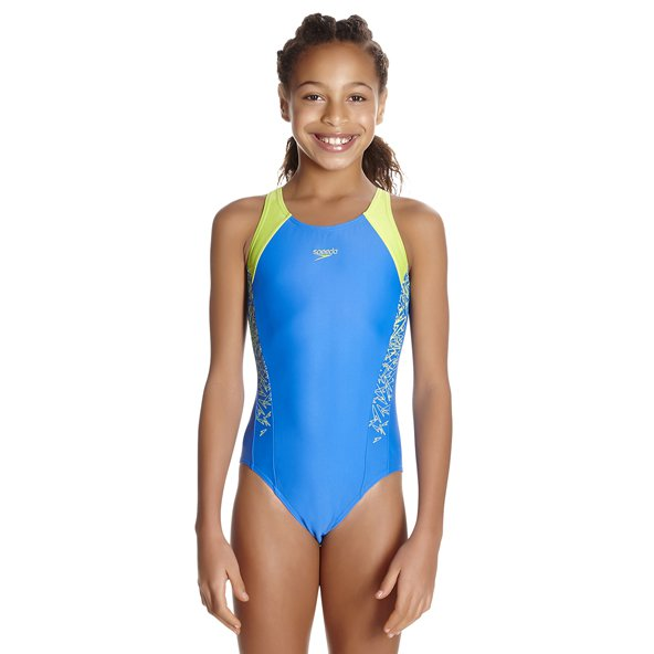 Speedo Boom Splice Girls Muscleback Blue
