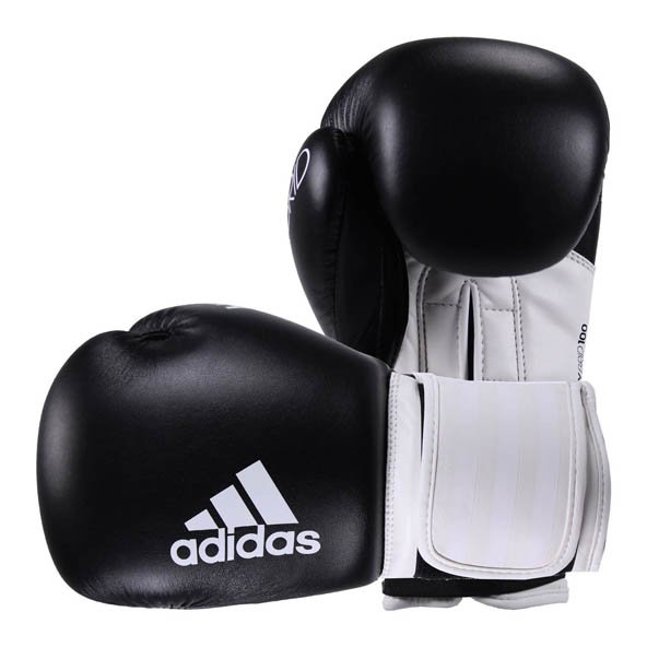 adidas Hybrid 100 Boxing Glove - 8oz, Black