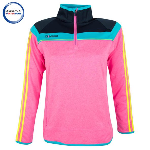 O'Neills Valencia Girls' ¼ Zip Top, Pink