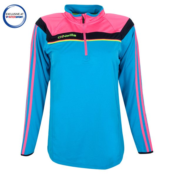 O'Neills Valencia K2 Girls' Tech ½ Zip Top, Blue