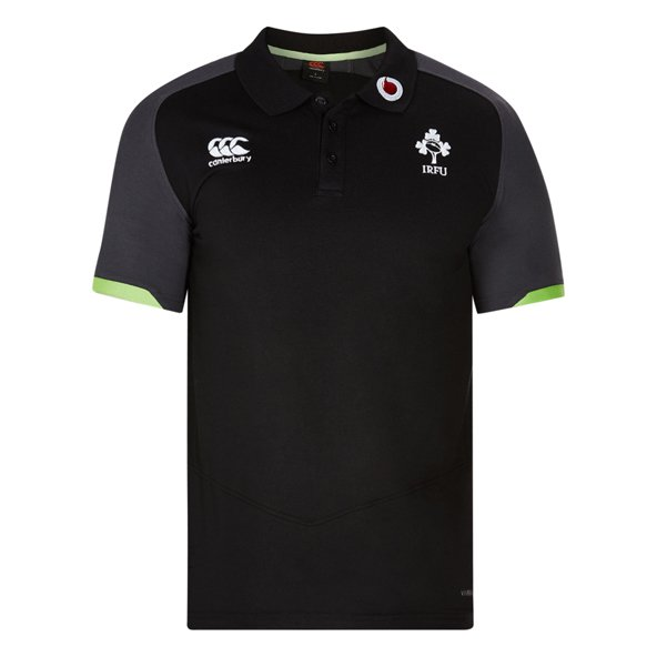 Canterbury IRFU 17 Poly Pique Polo Black