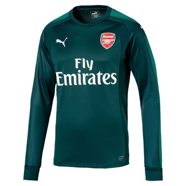 Puma Arsenal 2017/18 Kids' Home GK Jersey, Green