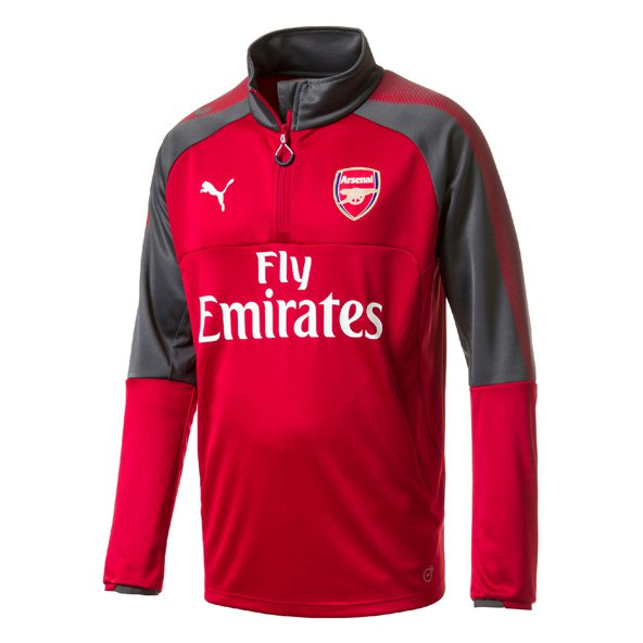 Puma Arsenal 2017/18 ¼ Zip Training Top, Red