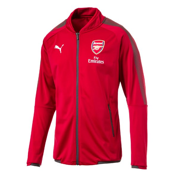 Puma Arsenal 2017/18 Kids' Home Stadium Jacket, Red