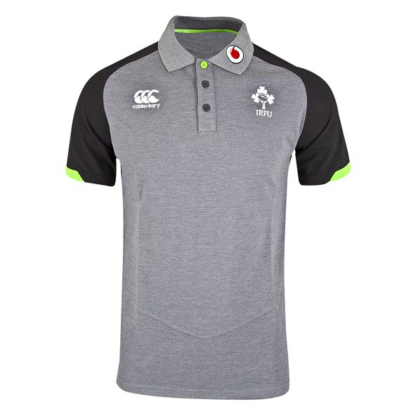 Canterbury IRFU 17 Poly Pique Polo Grey