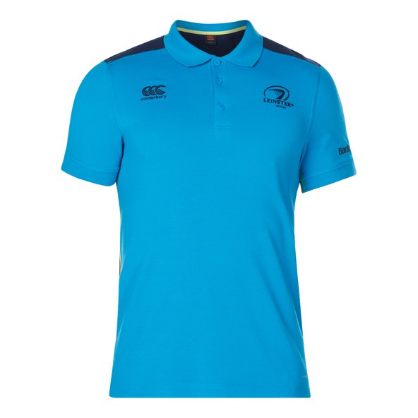 Canterbury Leinster 2017/18 Pique Polo Shirt, Blue