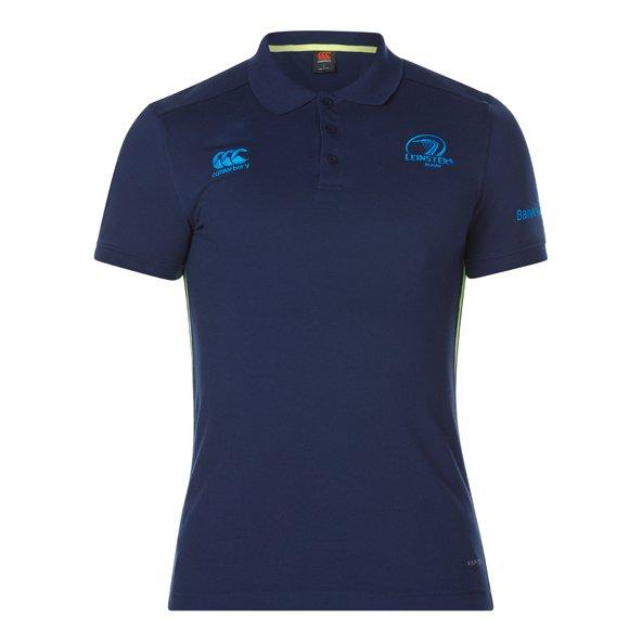 Canterbury Leinster 2017/18 Pique Polo Shirt, Navy