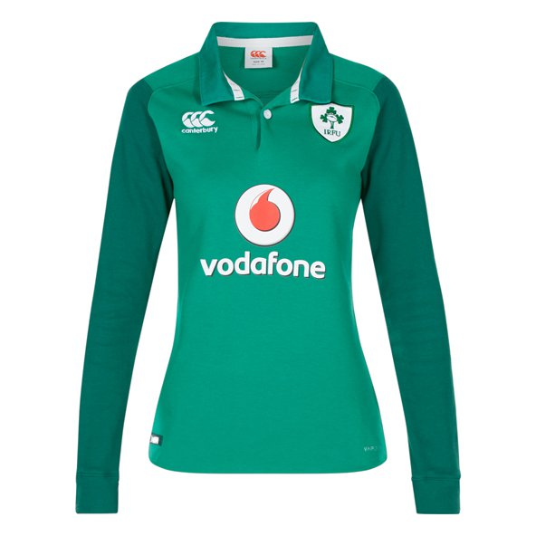 Canterbury IRFU Hm17 Cls Wmn LS Jers Grn