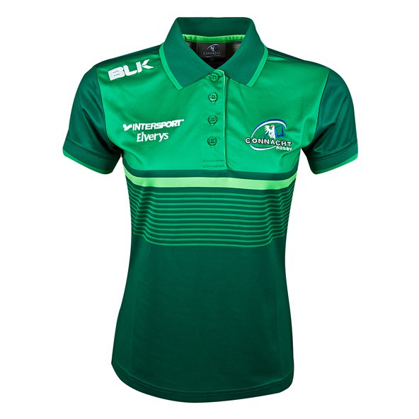 BLK Connacht 17 Wmns Media Polo Green