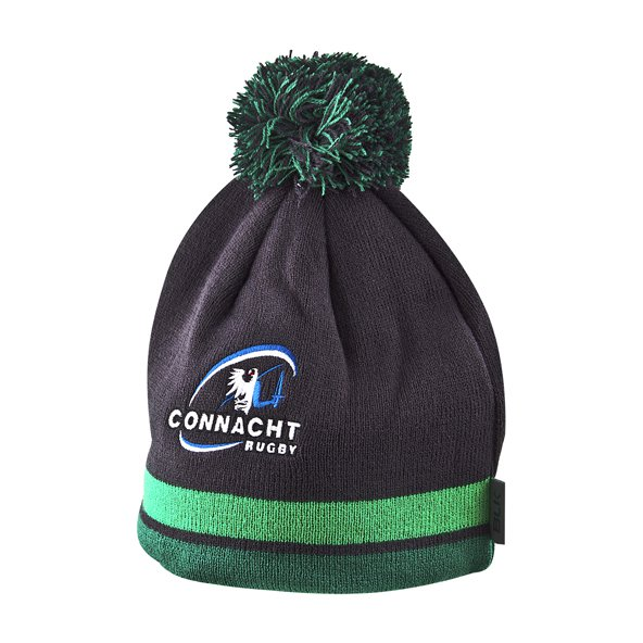BLK Connacht 17 Bobble Beanie Grey