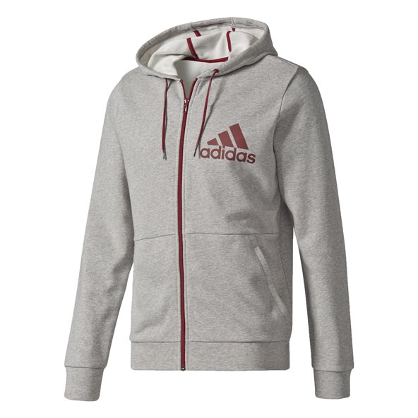 Adidas Tentro Men's Full Zip Hoody, Grey