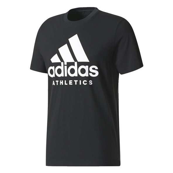 adidas Side Branded Mens Tee Black
