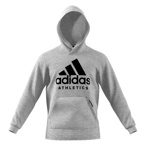 adidas Side Branded Mens OH Hoody Grey/B