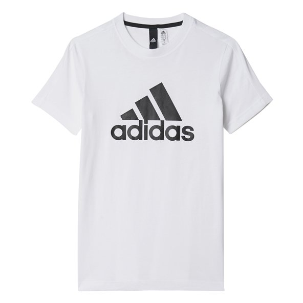 adidas Logo Boys Tee White/Black