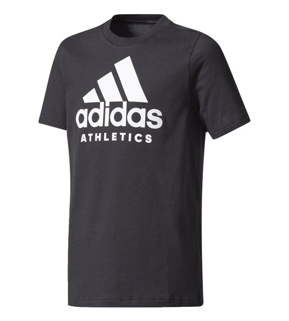 adidas Side Boys Tee Black/White