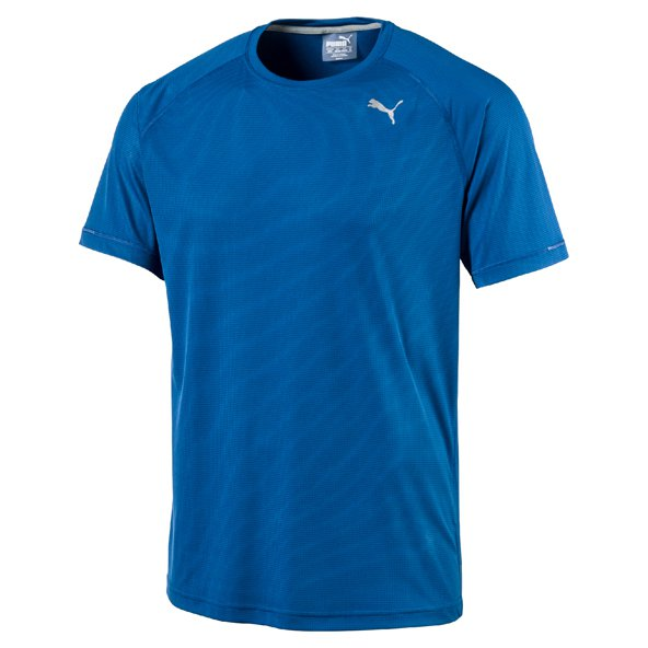 Puma Core-Run S/S Mens Tee Blue/Red
