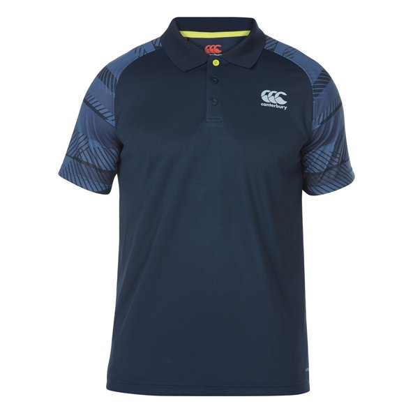 Canterbury Vapodri Graph Mens Polo Eclip