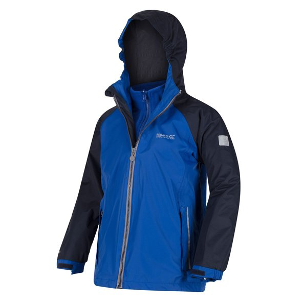 Regatta Luca IV 3-in-1 Boys' Jacket, Blue