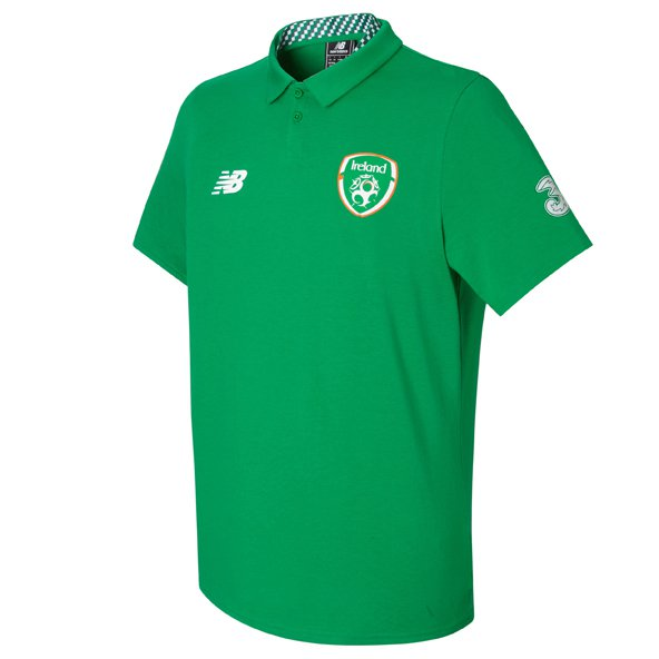 NB FAI 2017 Elite Media Motion Polo, Green