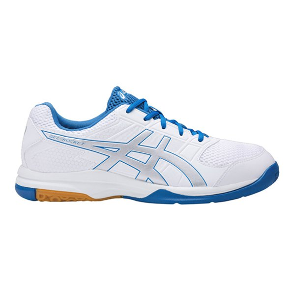 Asics Gel Rocket Men Squash Shoe Wht/Sil